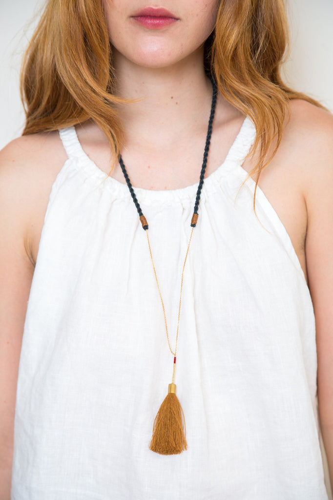 ora-c alice necklace in camel
