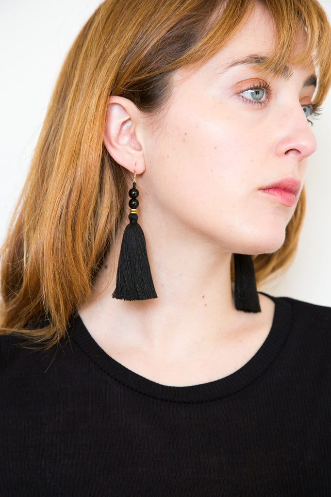 ora-c lina earring in black