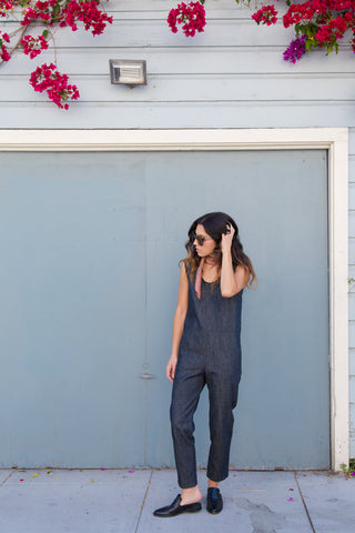 ozma denim coverall in indigo