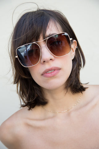 stop & stare sunglasses in gold by quay
