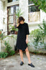 rodebjer eluera dress in black