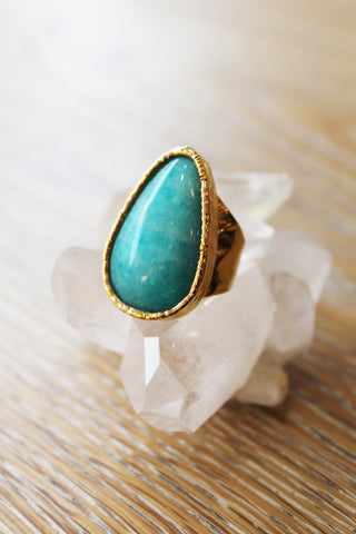 sheila b amazonite cocktail ring