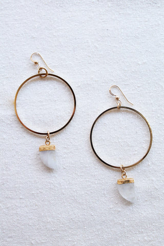 sheila b moonstone hoop earrings