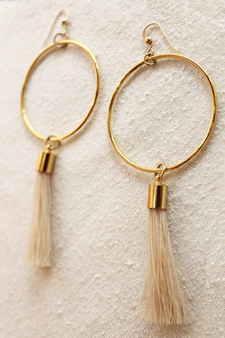 sheila b natural horsehair earrings