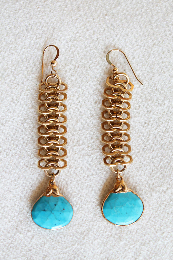 sheila b sleeping beauty turquoise earring