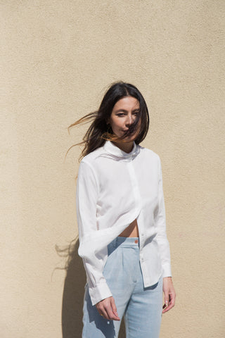side party camille shirt in white