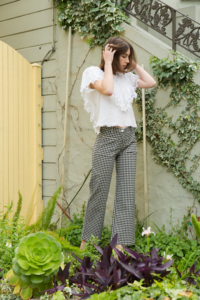 side party dare pants in gingham