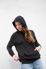 stateside viscose fleece hoodie in black