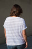 sundry striped slub tee