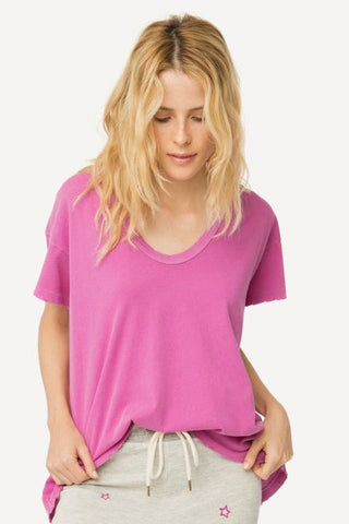 the great u neck tee in thistle