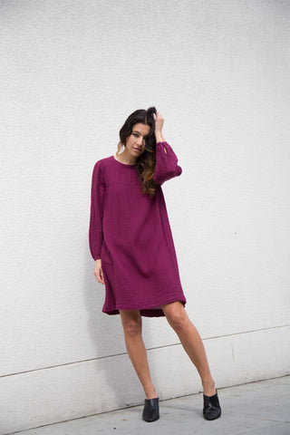 xirena jude dress in merlot