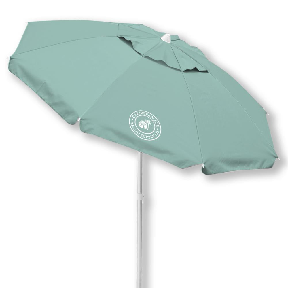 Wholesale Caribbean Joe Mint Green Vented Canopy UV Beach Umbrella