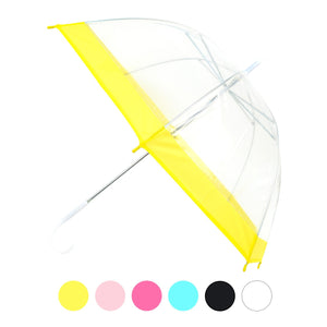 Wholesale Childrens clear dome umbrella with color trim