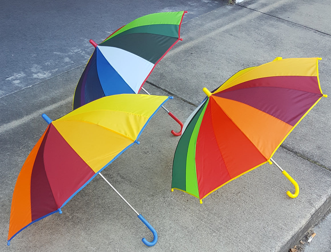 Wholesale Children's Rainbow Panel Umbrella