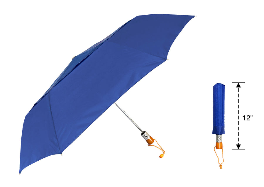 Wholesale Auto open Wind Vented Wooden Handle Umbrella