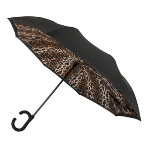 Wholesale Leopard Print ViceVersa Inverted Umbrella