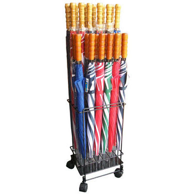 24-Piece Metal Display for Stick Umbrellas