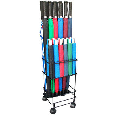 12/12-Piece Metal Umbrella Rack - Windbuster collection
