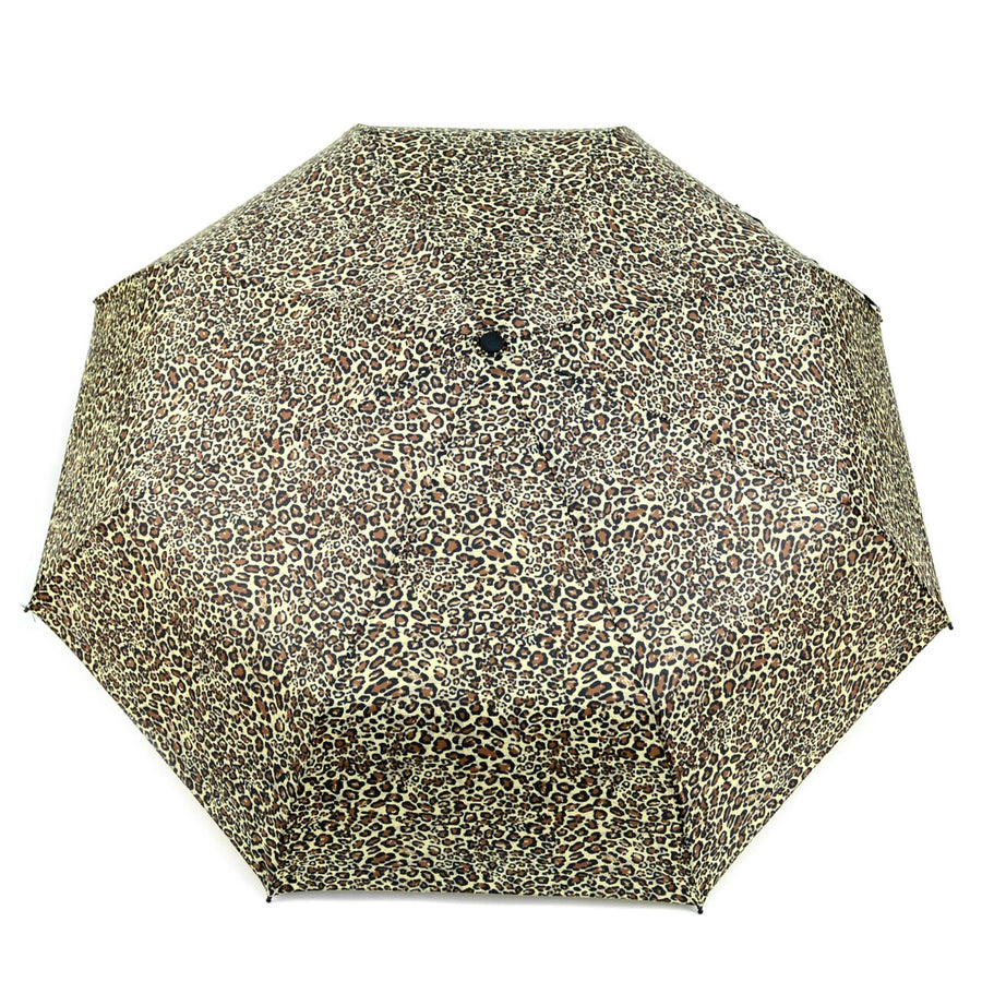 Wholesale Leopard Print Telescopic Compact Umbrella