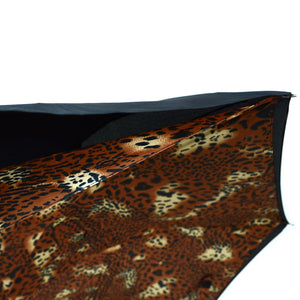Wholesale Brown Leopard Print Double Layer Inverted Umbrella