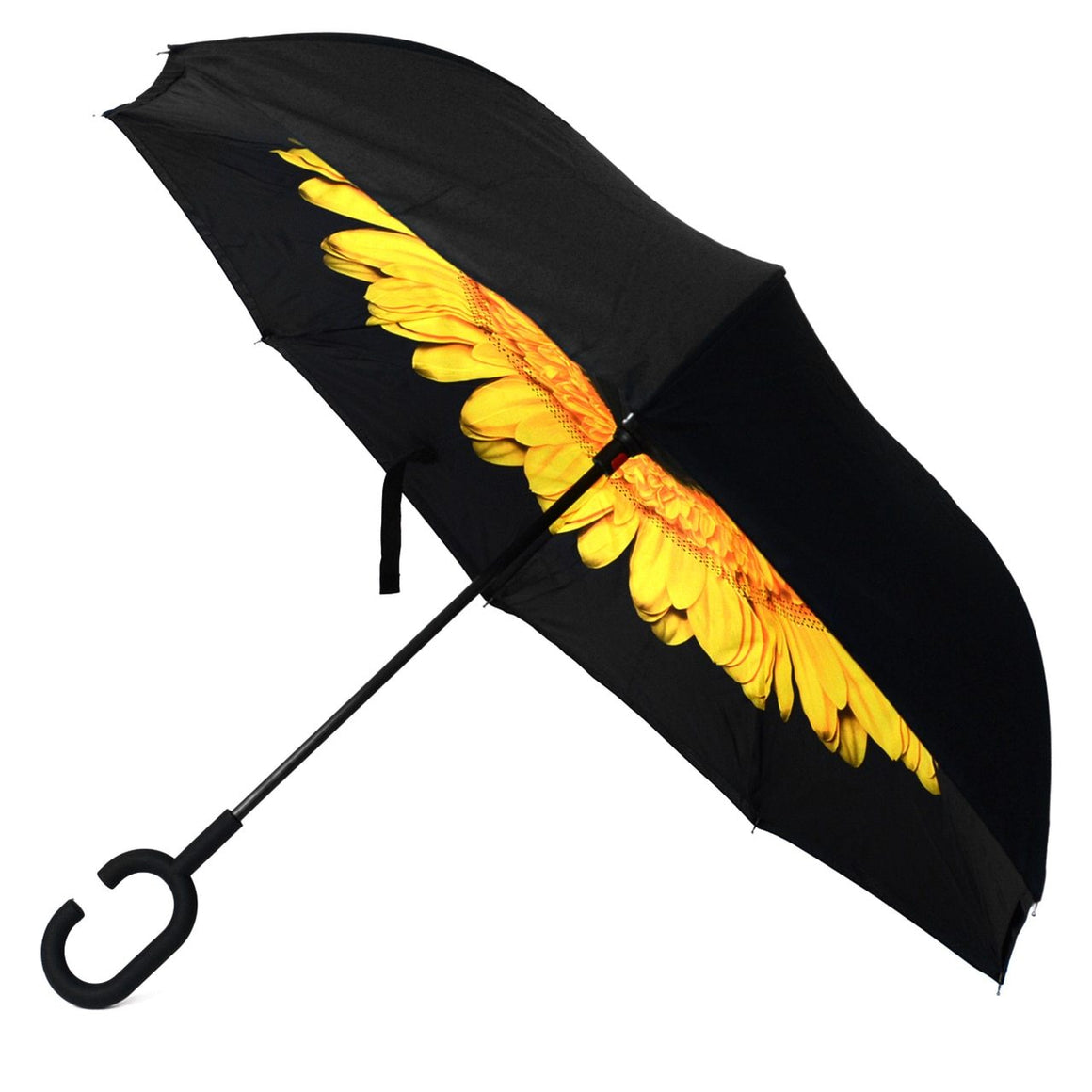 Wholesale Yellow Flower Double Layer Inverted Umbrella