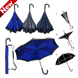 Wholesale Hook handle Reversed Umbrella