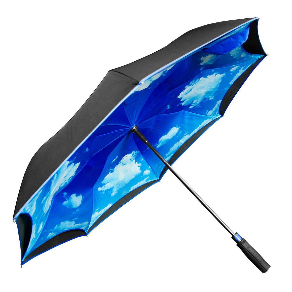 Wholesale Auto Open Blue Sky Inverted Umbrella