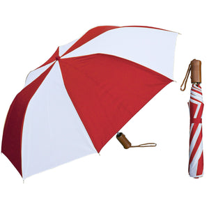 Wholesale Auto-Open Deluxe Umbrella - Two- Tone Colors with Wood Handle