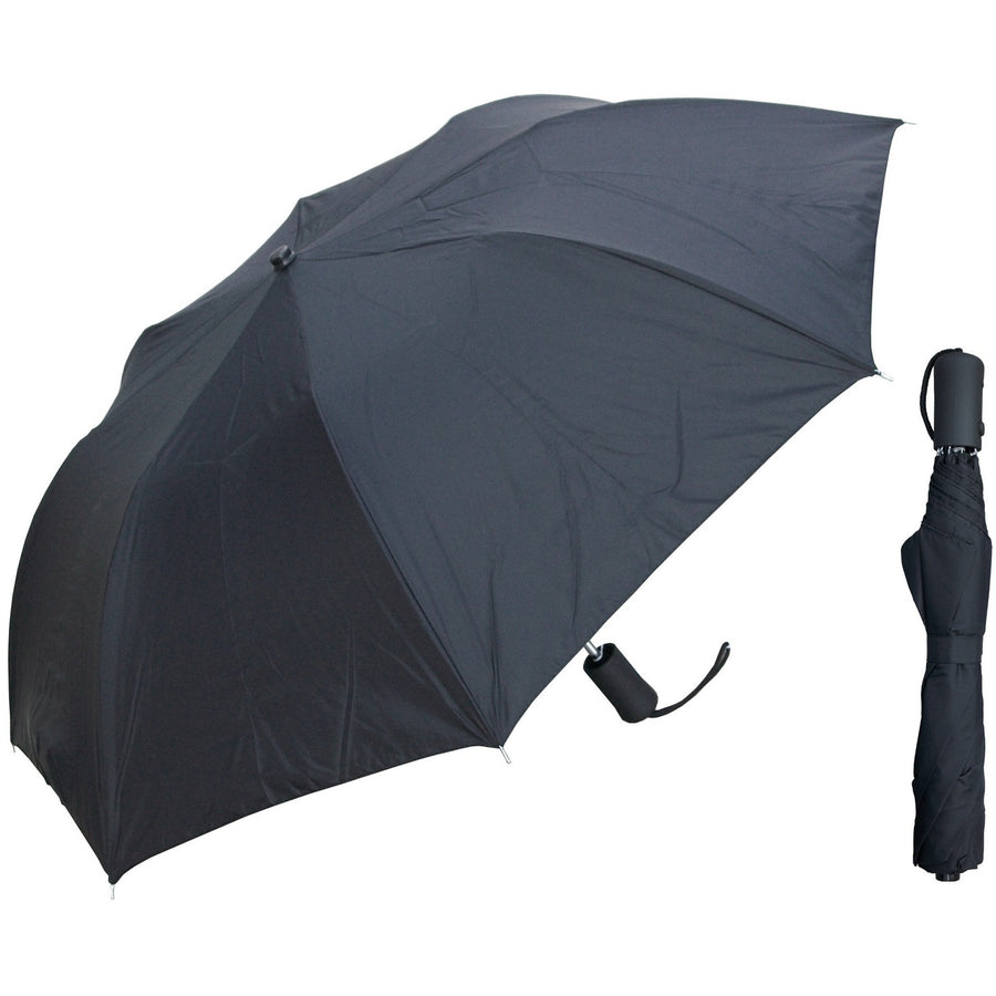 Wholesale Auto-Open Deluxe Black Umbrella