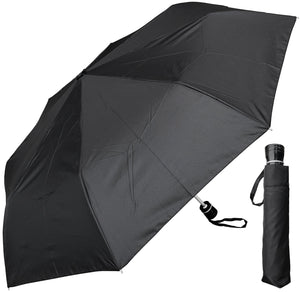 Wholesale Black Umbrella with Silver Trim