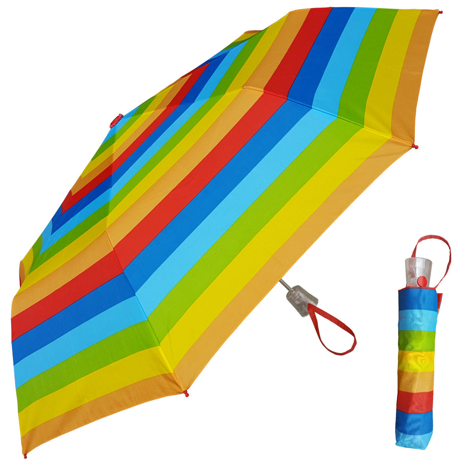 Wholesale Auto Open Mini Rainbow Stripes Umbrella