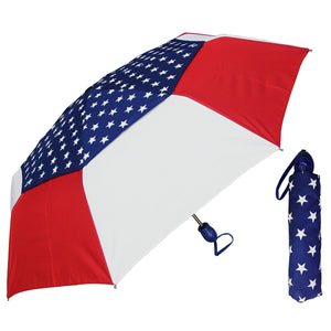 Wholesale American Flag Print Auto Wind Resistant Umbrella