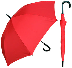 Wholesale Solid Print Umbrella with Black Hook Handle