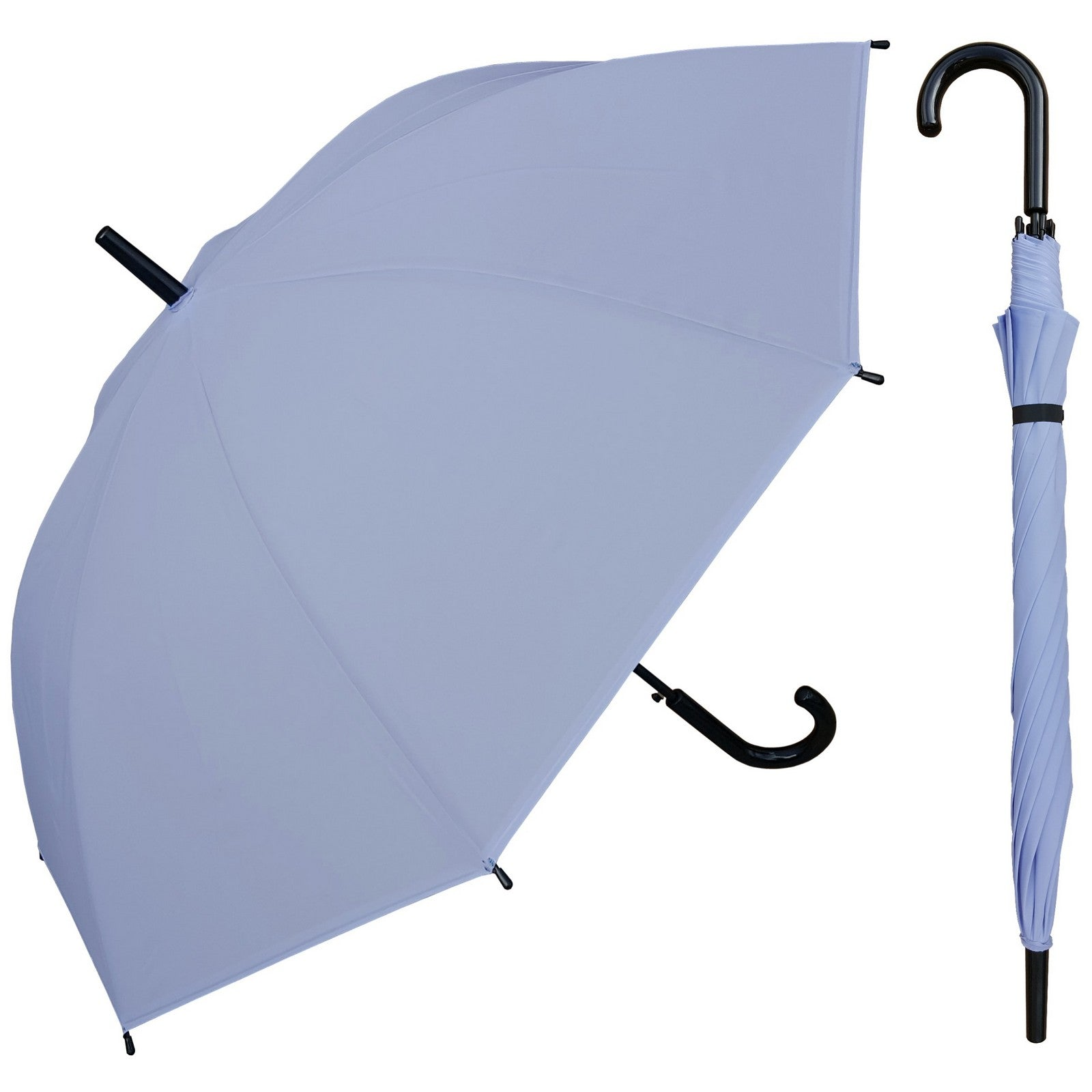 eda2c7007b2a5 Wholesale Bright Plastic Canopy Black Hook Handle Umbrella ...