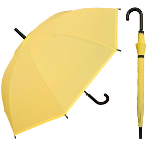 Wholesale Bright Plastic Canopy Black Hook Handle Umbrella