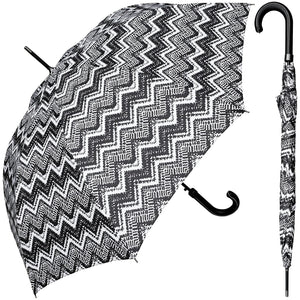 Wholesale Black/White Print Classy Doorman Umbrella