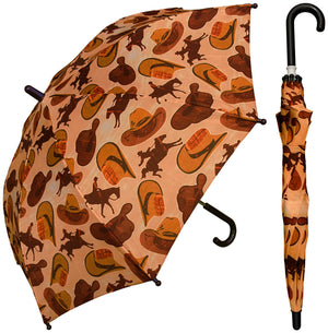 Wholesale Cowboy Print Kids Umbrella