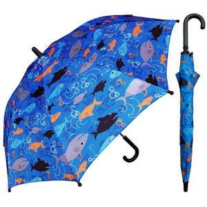 Wholesale Children's Blue Shark Umbrella