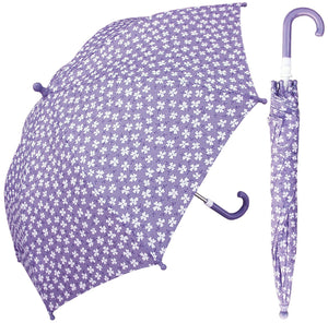 Wholesale Purple Flower Print Children's Umbrella