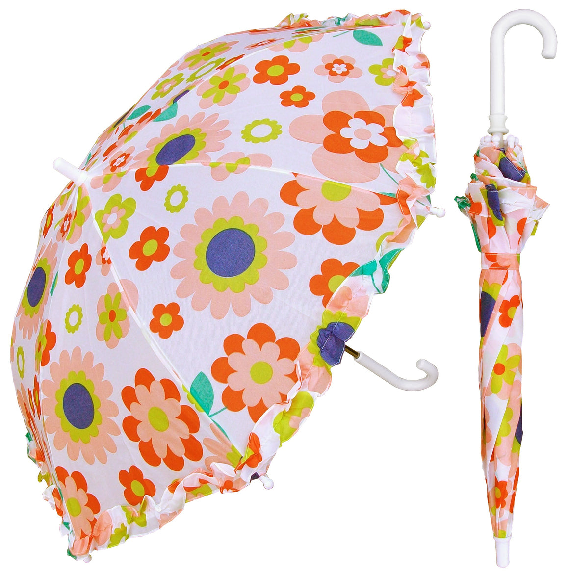 Wholesale Children's Retro Flower Print Umbrella