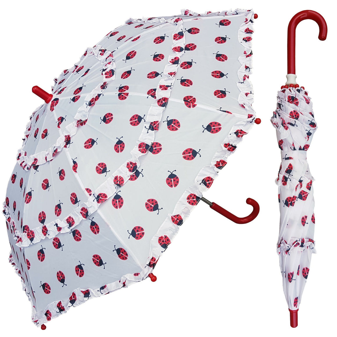 Wholesale Ladybug Ruffle Children's Umbrella