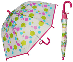 Wholesale Children's Clear Dot Umbrella