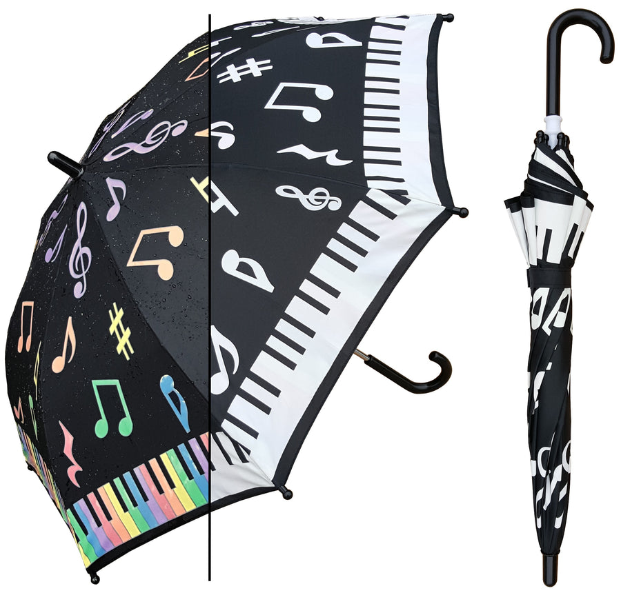 Wholesale Kids Color Changing Piano Key Print Umbrella