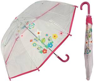 Wholesale Children's Butterfly Flower Clear Umbrella