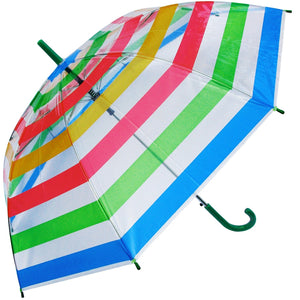 Wholesale Clear Color Stripes Umbrella