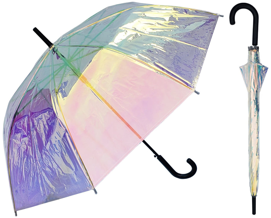 Wholesale Iridescent holographic Clear Umbrella