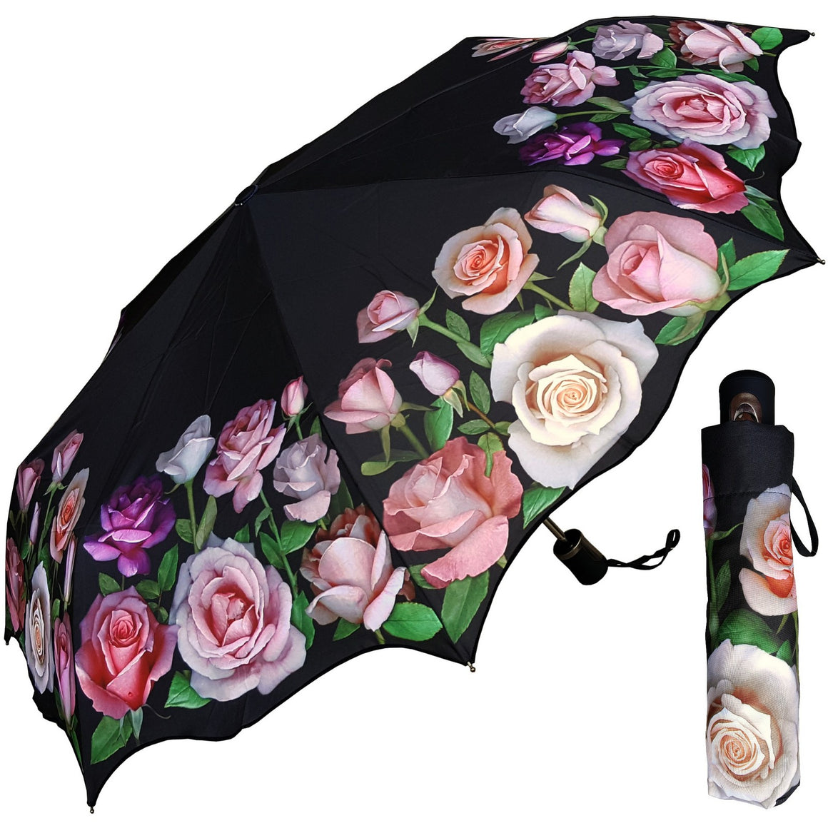 Wholesale Auto Artistic Printed Folding Umbrellas