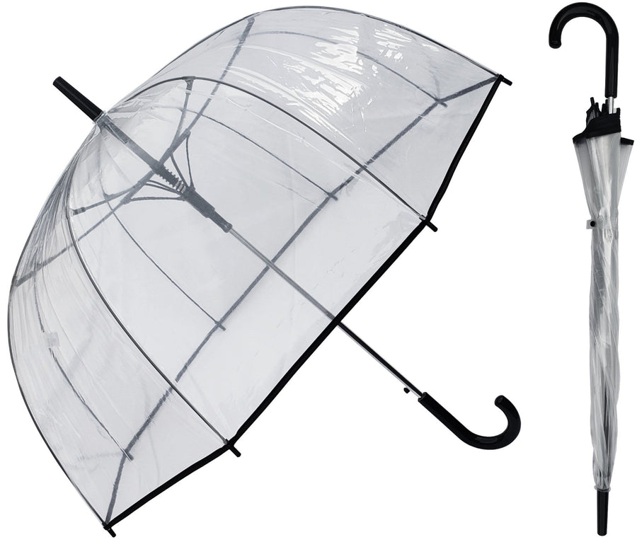 Wholesale Black Trim Clear Dome Umbrella