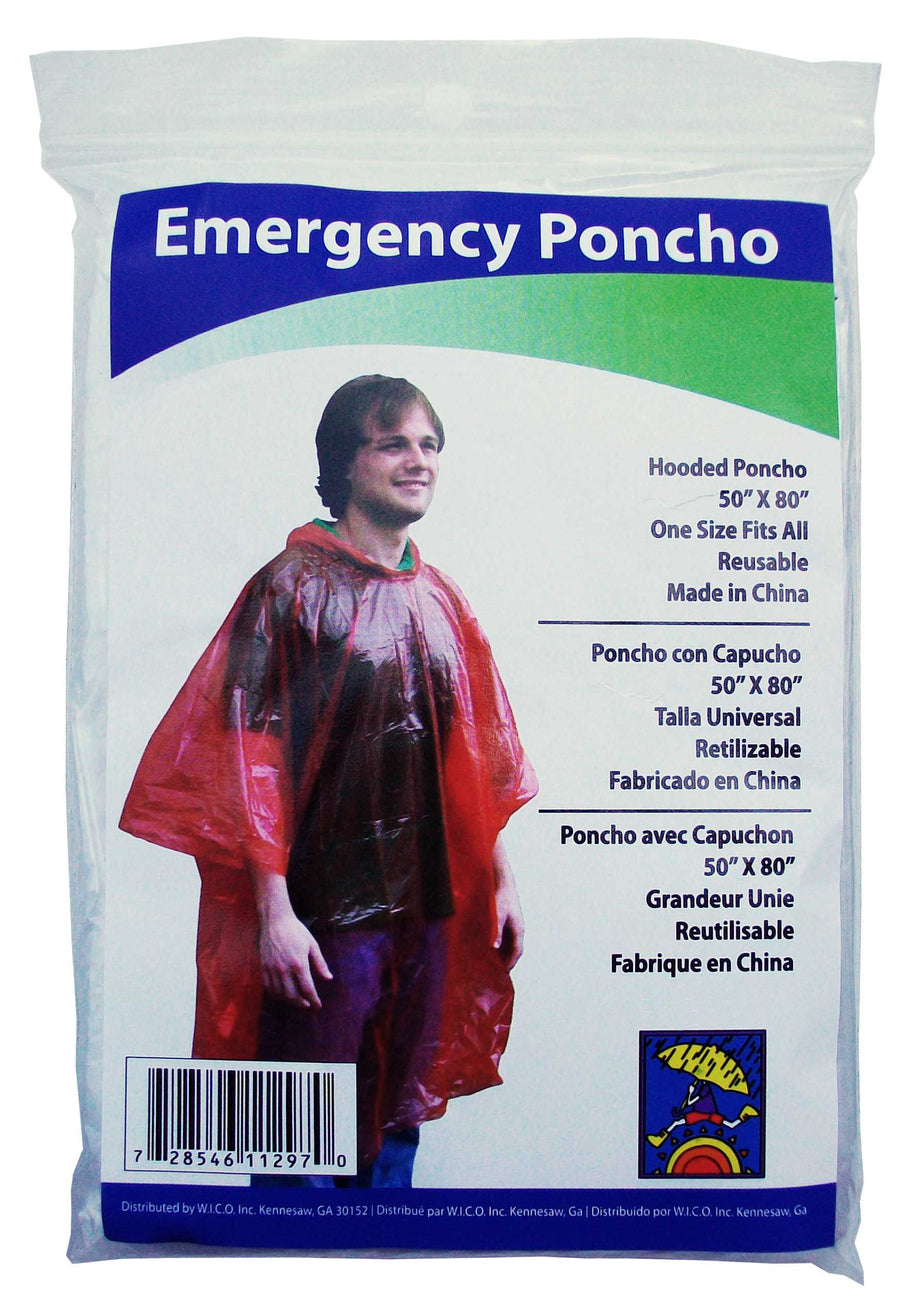 Wholesale Disposable Emergency Rain Poncho