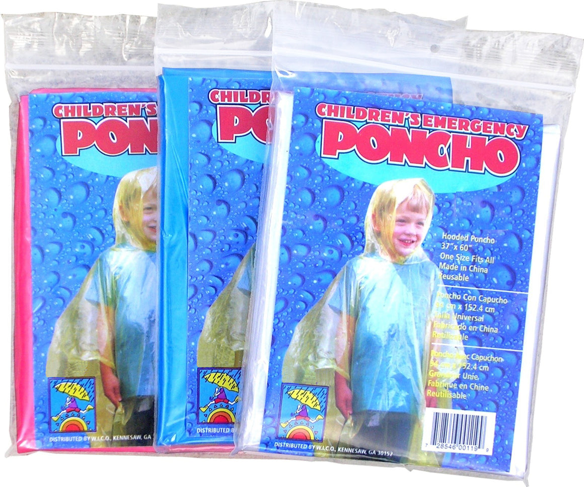 Wholesale Children's Emergency Disposable Clear Rain Ponchos